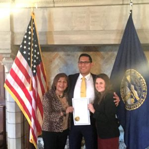 With my mother, Lidia, and my wife, Lauren, after being sworn.