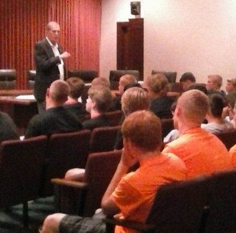 Speaking to Boys State at the Capitol on Friday afternoon June 10